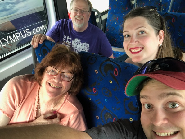 The family on the way to the resort